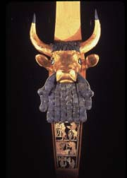 Golden Bull's Head on Lyre. Photo: Metropolitan Museum of Art.